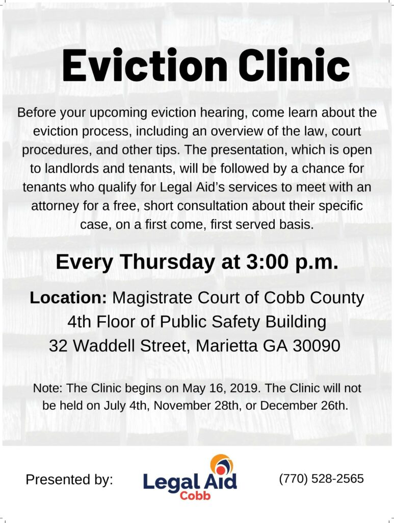 2019 Eviction Clinic Flyer-page-001