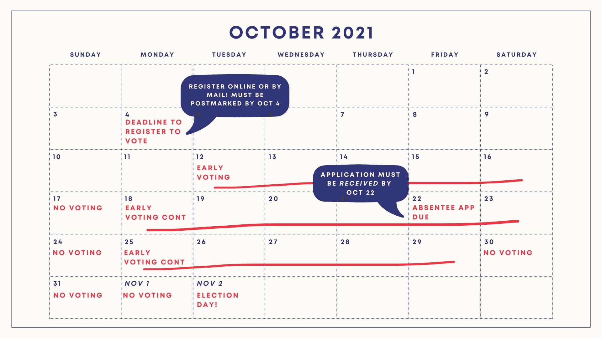 October 2021 Printable Minimalistic and Elegant Calendar